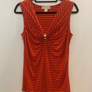 Michael Kors sleeveless top with gold front detail